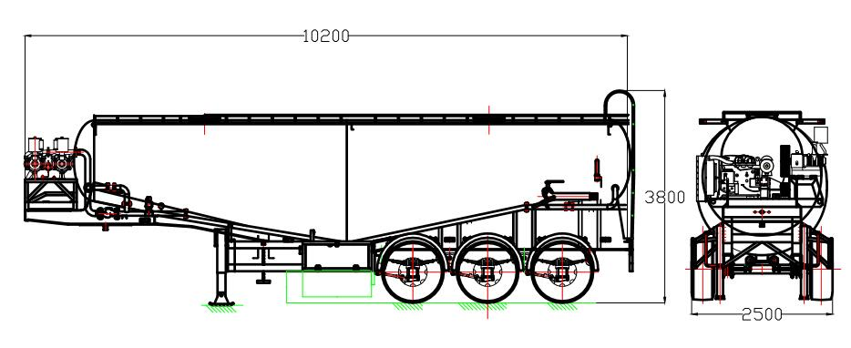 cement trailer drawing
