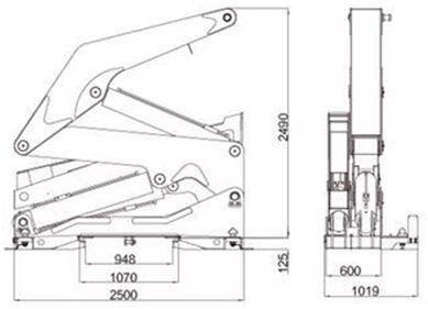 container side lifter drawing