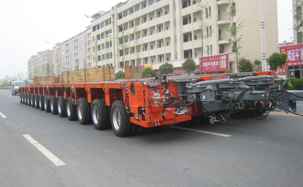 Hydraulic Lift Trailers Sales : Hydraulic modular trailer multi axles trailers