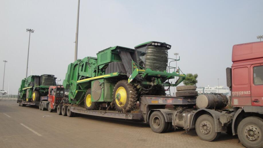 3 axle line low bed trailer