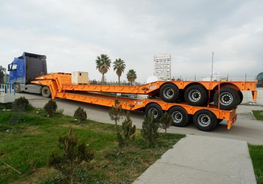 folding gooseneck lowbed trailer