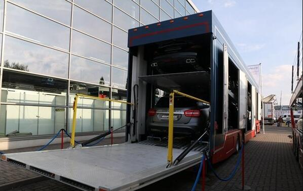 packaged car hauler