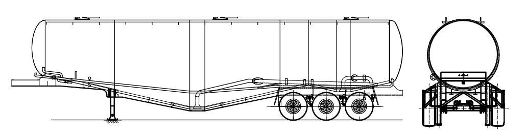 95 cbm cement tank trailer