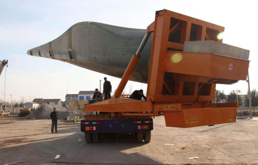 wind blades transport